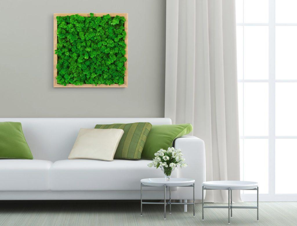 Tableau végétal dans un salon d'entreprise