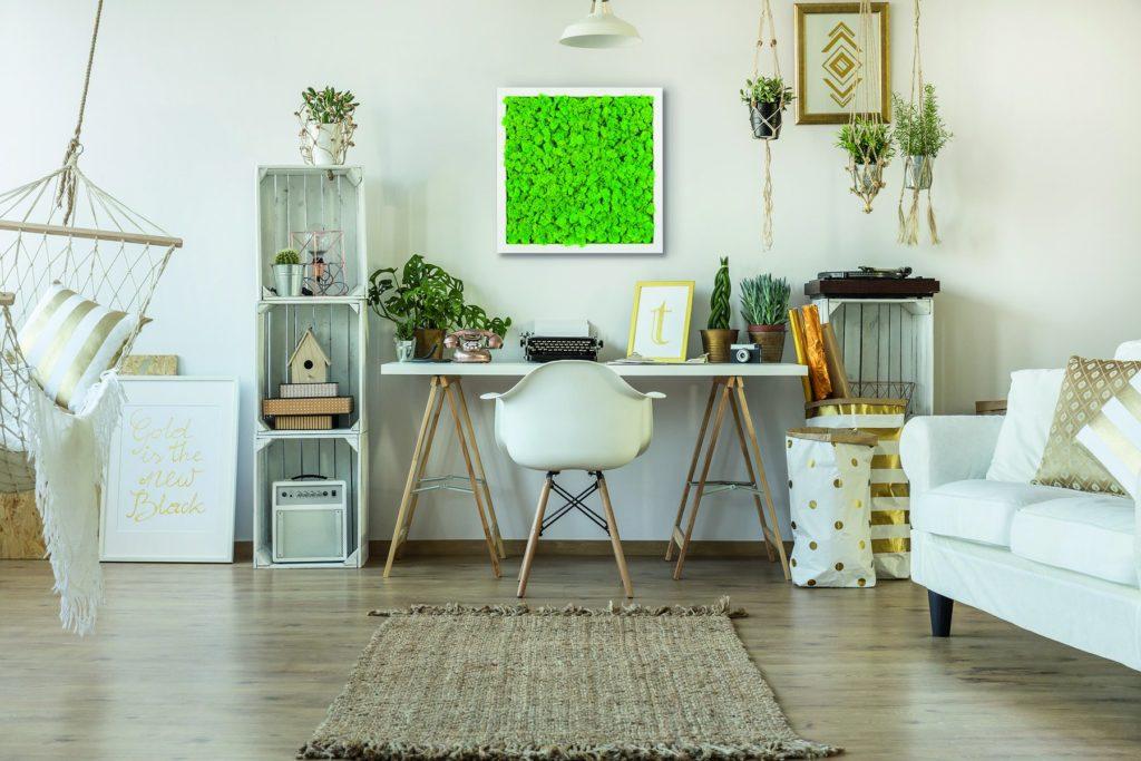 Tableau végétal en intérieur dans un bureau