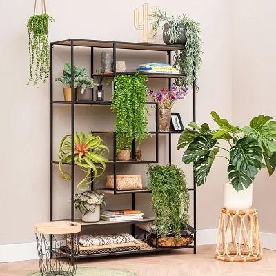 Étagère végétale en salle commune d'entreprise