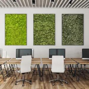 Tableaux végétaux dans une salle de réunion