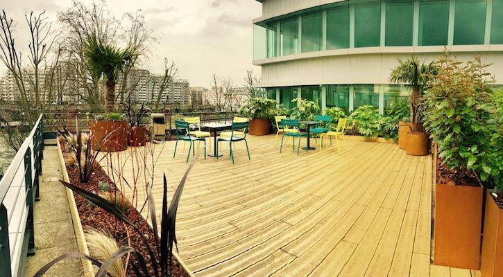 Terrasse de plante en bac Corten